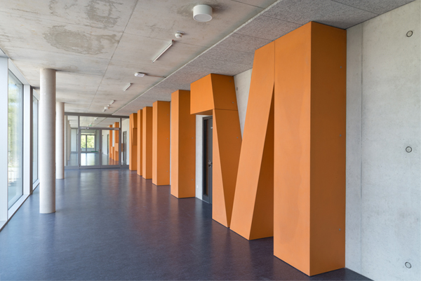 Birgit Schuh, INGENIUM, Kunst am Bau, OTH Regensburg, Foto: StefanHanke