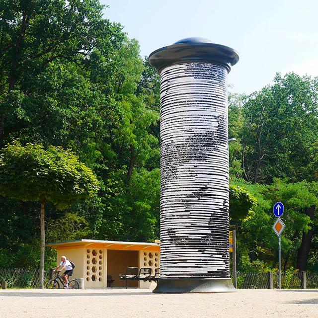 Birgit Schuh, Chiffre#Cloud, 2019, Kunst im öffentlichen Raum Dresden / Foto: Birgit Schuh