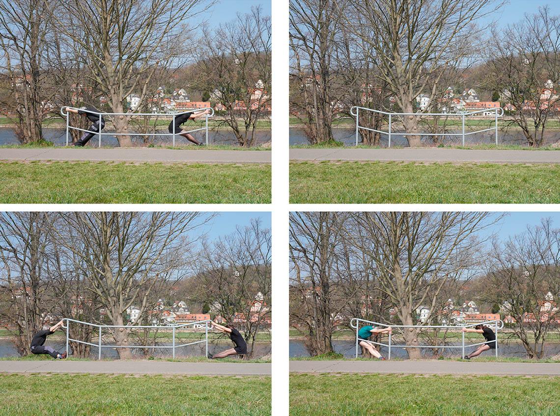 Geländerübungen Birgit Schuh und Christoph Rodde / Stop Motion 2020